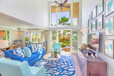Luxury Townhouse at Kaiulani Of Princeville - living room