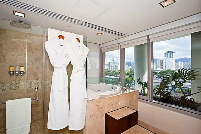 Waikiki Trump Tower Condo Luxury Bathroom
