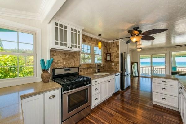 kauai ocean view home kitchen