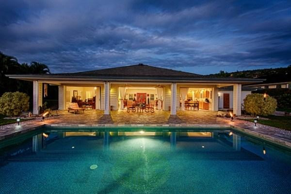 kona vistas - pool night