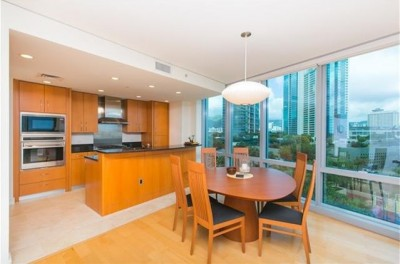 1288 Ala Moana Boulevard #6G - kitchen - dining