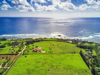 Aliomanu Estates land - aerial ocean view