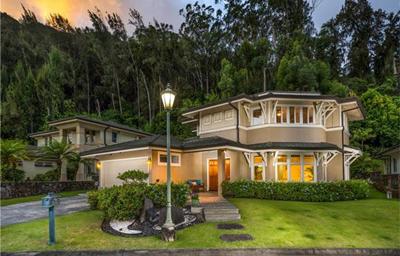 Oahu Luxury Home _Nuuanu - exterior front
