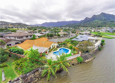 Waterfront Kailua Property - aerial